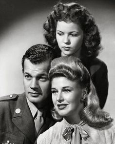 """Joseph Cotten, Shirley temple, & Ginger Rogers i  """"I'll Be Seeing You"""" (1944)"""