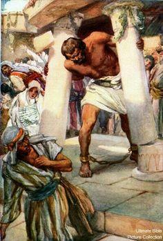 Samson Between The Pillars.