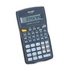 Sharp EL-501W-BK Scientific Calculator by Sharp. $8.99. The EL501WBBK 10-Digit calculator is a great companion for any math student. It covers a range of potential math problems with the ability to perform over 130 scientific and math functions. It features a large, one-line, ten-digit LCD display that makes it easy to read numbers as they're entered and answers to equations. The calculator is battery powered with automatic shut-down, ensuring that power is con...