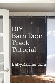 DIY Barn Door on a Track..