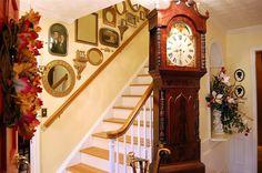 Stair wall decor.