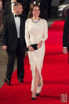 "Cathy Cambridge in Roland Mouret at the ""Mandela"" Royal Premiere"