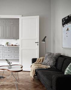 the Swedish do it some simply. grey kitchen | swedish apartment