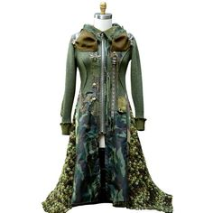 Steampunk Military style Sweater COAT size Medium. by amberstudios