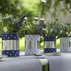 cute upcycled cans