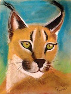 Lynx, by Renee Michelle Wenker Soft pastels, 14 x 11
