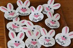 Name tags bunny theme! desk dec| creative name tags