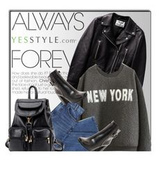 """""""YESSTYLE.com"""" by monmondefou ❤ liked on Polyvore featuring Mushi, ssongbyssong, BeiBaoBao, Prada, women's clothing, women, female, woman, misses and juniors"""