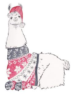 im excited to share my new watercolor llama btw its available