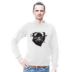 Pug Sweatshirt, Unisex Sweater, Pug Gift, Mens Personalized Pug Sweater, Womens Oversized Sweater, Pug Life, Husband Gift, Wife Sweatshirt by MONOFACESoADULT on Etsy