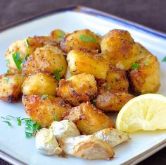 lemon herb roasted potatoes