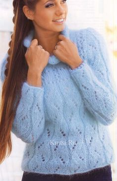 24 Ideas For Knitting Sweaters Tricot Sweater Knitting Patterns, Knitting Designs, Hand Knitting, Knitting Sweaters, Knitted Baby Cardigan, Mohair Sweater, Crochet Baby Booties Tutorial, Loom Scarf, Crochet Hat For Beginners