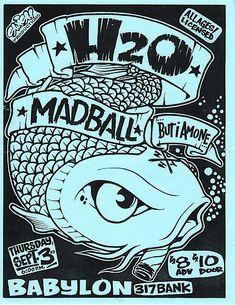 H2O, Madball punk hardcore flyer