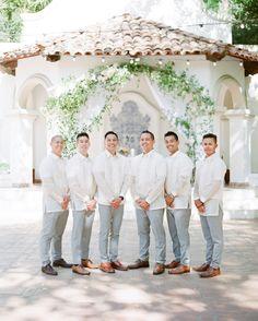 29 Stylish Groomsmen from Real Weddings 29 Stylish Groomsmen from Real Weddings Barong Tagalog Wedding, Barong Wedding, Filipiniana Wedding Theme, Wedding Attire, Chic Wedding, Wedding Outfits, Wedding Cake, Groom And Groomsmen Style, Groomsmen Grey