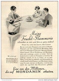 Original-Werbung/ Anzeige 1928 - MONDAMIN FRUCHT- FLAMMERIS -  ca. 100 x 135 mm