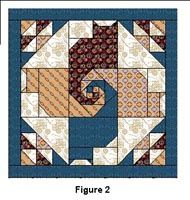 SNAIL TAIL QUILT OR BLOCK PC