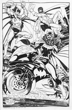 Batman, Robin & Batgirl by John Byrne
