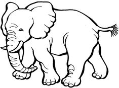 Image result for elephant clipart black and white