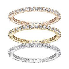 Swarovski Vittore Ring ($199) ❤ liked on Polyvore featuring jewelry, rings, swarovski rings, swarovski jewelry, stackable rings, stackers jewelry and swarovski jewellery