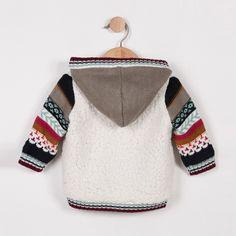 Toddler Cardigan, Cardigan Bebe, Knit Cardigan, Crochet Hoodie, Knit Crochet, Knitting For Kids, Baby Knitting Patterns, Bebe Baby, Boys Sweaters