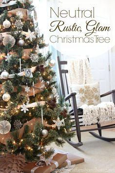 Rustic Glam Christmas tree via @Tonya Seemann Seemann @ Love of Family & Home