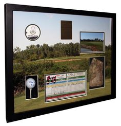 golfers golf ball framed shadowbox collage wwwartandframebiz