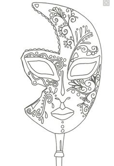 """iColor """"I Love Coloring II A&E"""" ~ masque de Venise Make your world more colorful with free printable coloring pages from italks. Our free coloring pages for adults and kids. Coloring Book Pages, Printable Coloring Pages, Coloring Sheets, Colorful Drawings, Colorful Pictures, Hippie Kunst, Mask Template, Venetian Masks, Quilling Patterns"""