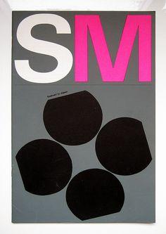 Wim Crouwel — Poster Stedelijk Museum Amsterdam, Printed in Japan by Bas van Vuurde, via Flickr