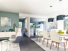 Wohnbereich im Fantastic 163 V2 von Bien-Zenker • Mit Musterhaus.net Traumhaus finden und Wohnbereiche zum Wohlfühlen gestalten.