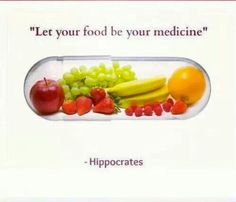 """Let food be thy medicine."" - Hippocrates via Dr. Mark Hyman"