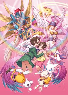 Digimon - Kari with Gatomon's Digivolutions by eclosion