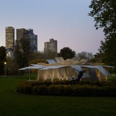 """Sean Godsell unveils inaugural MPavilion  designed to """"bloom like a flower"""""""