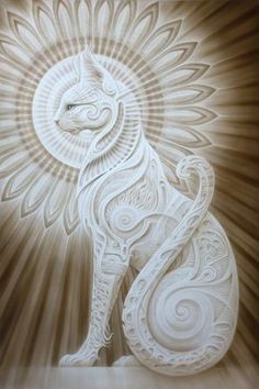 Ra – Mau (Egyptian Cat) from A. Andrew Gonzalez Art Shop Ra – Mau (Egyptian Cat) · A. Andrew Gonzalez Art Posters · Online Store Powered by Storenvy Tattoo Chat, Egyptian Cats, Egyptian Cat Goddess, Kunst Poster, Visionary Art, Crazy Cats, Cat Art, Amazing Art, Awesome