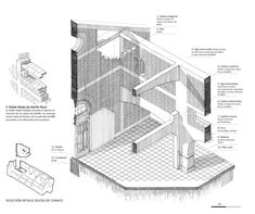 © Jose Tomas Schmidt - Isometric section handrawing