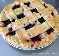 Cherry Pie made with a homemade pie crust and homemade filling. All from scratch.