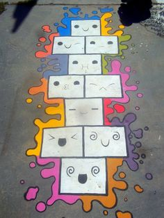 Meme-Hopscotch / Meme-Rayuela by Johnny-Aza on DeviantArt Playground Painting, Playground Games, Backyard Playground, Games For Kids, Activities For Kids, Sidewalk Paint, School Murals, Street Painting, Hopscotch