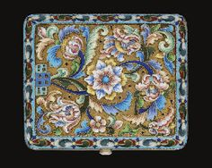 Cigarette Case, Antique Boxes, Russian Art, Shades Of Blue, Art Nouveau, Enamel, Victorian, Purple, Antiques