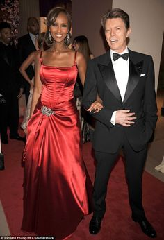 Forever love: Iman has been slowly re-emerging on the social scene, following the January 2016 death of her musician husband David Bowie. Pictured in 2008
