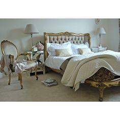Gold Gilt Button Bed | Beds | Beds & Bedroom | Sweetpea & Willow