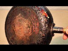 КАК ОЧИСТИТЬ СКОВОРОДУ, конфорки, кастрюлю и др. посуду ОТ МНОГОЛЕТНЕГО НАГАРА и застарелого жира? - YouTube