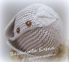 "We knit a hat ""Robin"", photo No. Knitting For Kids, Baby Knitting Patterns, Baby Patterns, Crochet Patterns, Hand Knitting, Knitting Needles, Crochet Baby, Knit Crochet, Crochet Bikini"