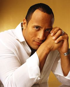 the rock dwayne johnson . I just love the fact that my honey looks like him! Go Me!