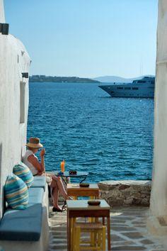 Seat by the Sea, Mykonos, Greece