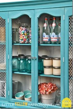 Cabinet style, different color (like this color but I need a contrast to my Island Blue concrete died floor! :-)