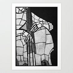 jazz bass player Art Print by spinL