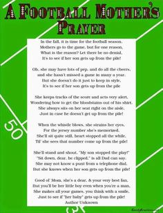 Discover and share Football Prayer Quotes. Explore our collection of motivational and famous quotes by authors you know and love. Football Prayer, Football Spirit, Football Cheer, Football Quotes, Youth Football, Football And Basketball, School Football, Football Season, Football Stuff