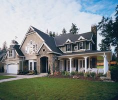 Spacious Craftsman Style home with superb design details.  Craftsman House Plan # 551195.