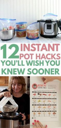 INSTANT POT TIPS, tricks, hacks for beginners to advanced to maximize the 7 in 1 insta-pot duo or lux. seamless freezer cooking for faster family favorite recipes; convert from crockpot, slow cooker, electric pressure cooker; Pressure Cooking Recipes, Freezer Cooking, Cooking Time, Slow Cooker Recipes, Crockpot Recipes, Cooking Hacks, Healthy Instapot Recipes, Multi Cooker Recipes, Cooking Classes