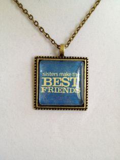 Sisters Pendant Necklace by joytoyou41 on Etsy, $20.00