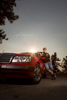 Nothing goes better with high school guys senior pictures than their cars.